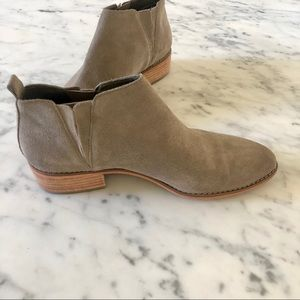 NORDSTROM BP KACEE BOOTIES. TAUPE SUADE.